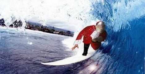 santa-on-surfboard